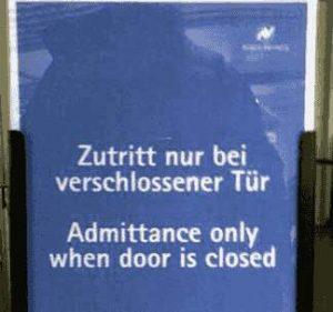 Zutritt nur bei verschlossener Tür?