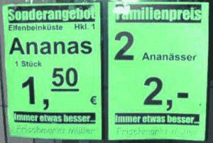 Plural von Ananas?