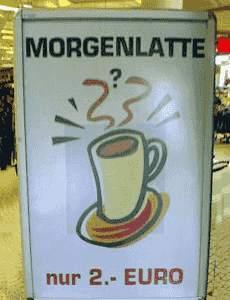 Ein Cafe Latte am Morgen