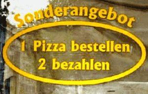 Sonderangebot für 1 Pizza