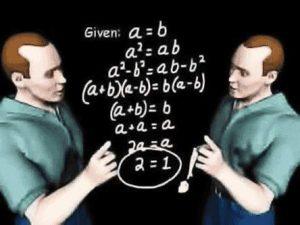 Mathematik - falscher Beweis: a = b