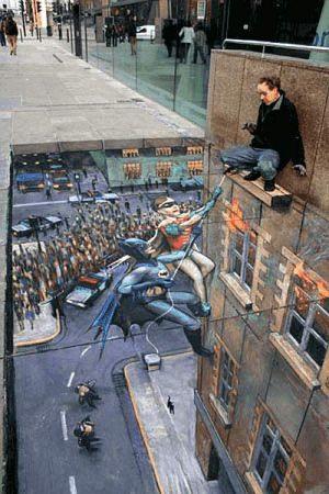 Batman & Robin - 3D Straßenbilder