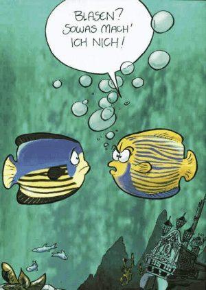 Fische machen Blasen