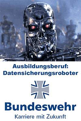 Ausbildungsberuf bei der Bundeswehr: Daten-Sicherungs-Roboter