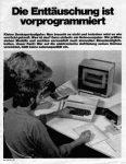 Computer - Die Enttäuschung ist vor-programmiert