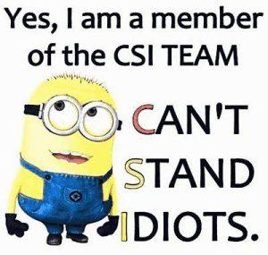 Ja, ich bin auch ein CSI Mitglied.