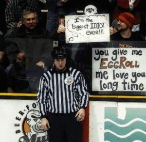 Eishockey Sprechblase: Der größte Idiot aller Zeiten