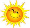 Emoji - Strahlende Sonne