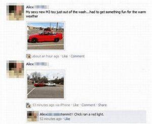 Freundin crasht neuen Wagen