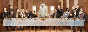 Einstein und andere berühmte Forscher - Abendmahl