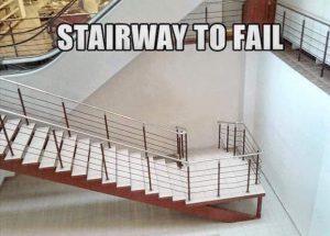 Treppe endet an der Wand
