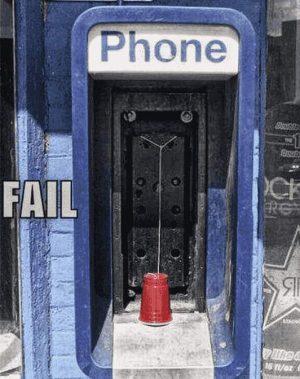 Telefonzelle - auf die ganz altmodische Art