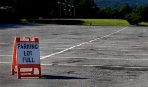 Parkplatz leider wegen Überfüllung geschlossen.