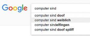 Google Suggest - Computer sind weiblich