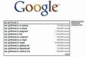 Google Suggest: Meine Freundin ist ...