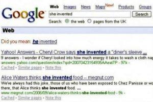 Google Suche: She invented wird zu He invented