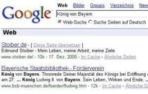 Google Suche - König von Bayern - Stoiber