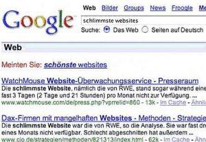 Google Suggest - Schönste / Schlimmste Website