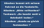 Häschenwitze - Tankstelle - Schraube locker