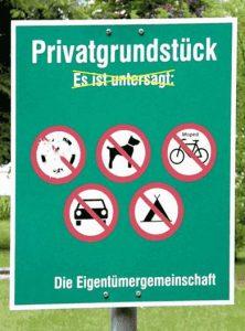 Privatgrundstück - Alles verboten
