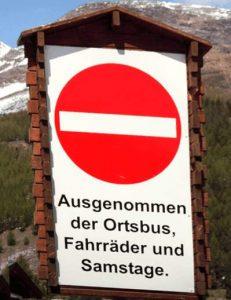 Durchfahrtsverbot