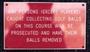Caught Collecting Golf Balls