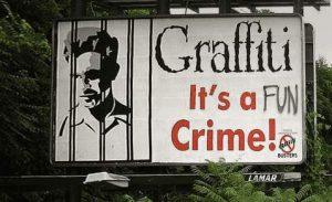 Graffiti - It is a crime