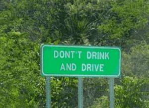 Nicht fahren mit Alkohol