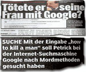 Tötete er seine Frau mit Google?