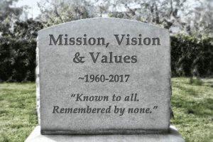 Grabstein - Mission, Vison & Values