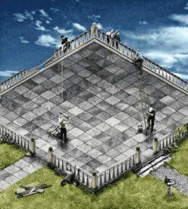 Optische Täuschung - Baustelle