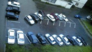 Im schön in der Reihe parken