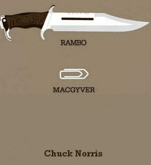 Rambo vs. MacGyver vs. Chuck Norris