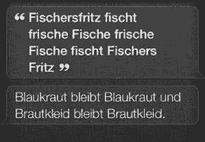 Zungenbrecher: Fischers Fritze ... Blaukraut