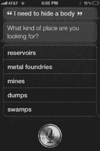 Siri - Leiche verstecken