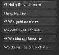 Hallo, Steve Jobs