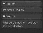 Siri, Test
