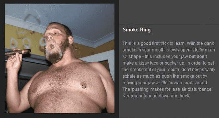 Tricks mit Rauch - Smoke Ring