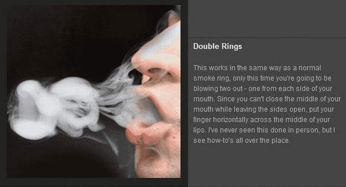 Tricks mit Rauch - Double Rings