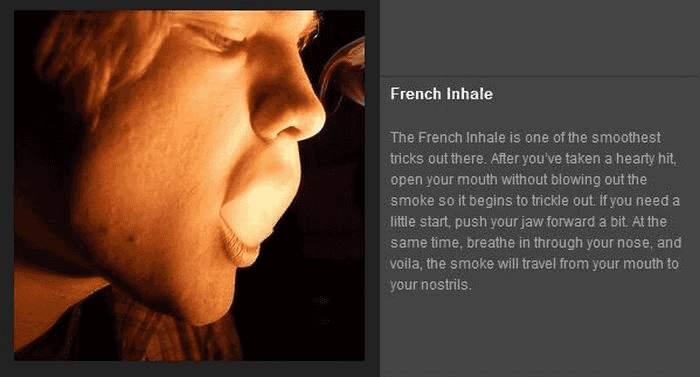 Tricks mit Rauch - French Inhale