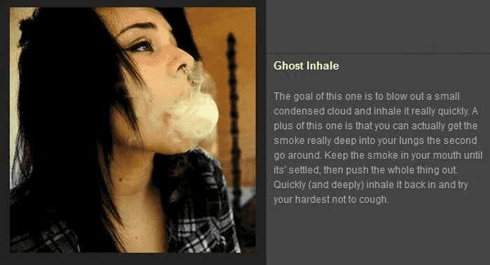 Tricks mit Rauch - Ghost Inhale