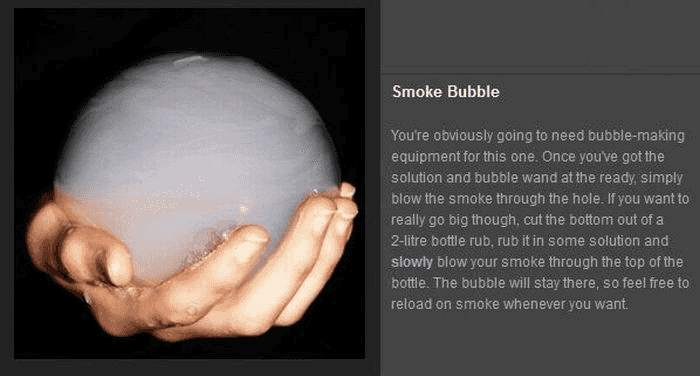 Tricks mit Rauch - Smoke Bubble