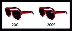 Sonnenbrille: Preise mit und ohne Designer-Logo