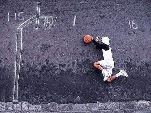Basketball Kreide - Lustige Sport Bilder