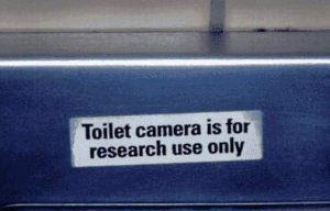 Kamera ist nur zu Forschungszwecken installiert