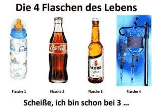 Babyflasche, Coca-Cola, Bier, Tropf