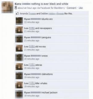 Schwarz / Weiß - Lustige Facebook Dialoge