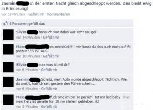 Abgeschleppt - Lustige Facebook Dialoge