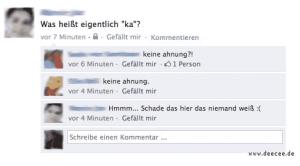 Keine Ahnung (ka) - Lustige Facebook Dialoge