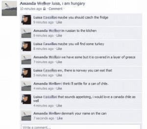 Essen - Lustige Facebook Dialoge
